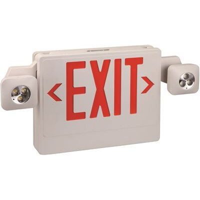 Combo 2-Light Exit Sign Light