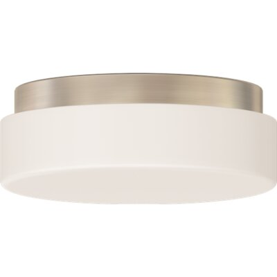 Brushed Nickel 1-Light Flush Mount