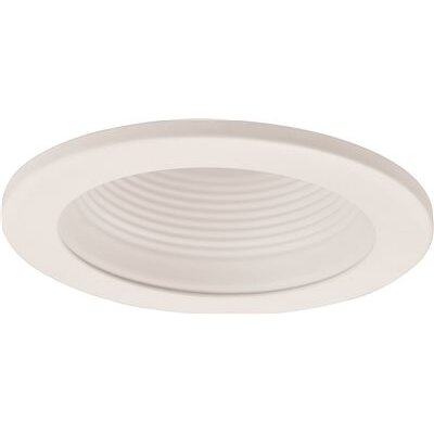 Metal Baffle Recessed Trim Finish: White