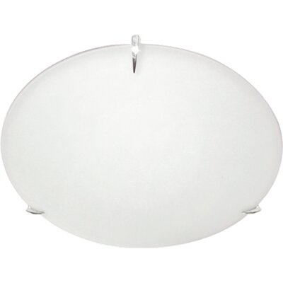 60-Watt 3-Light Flush Mount