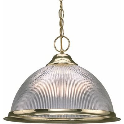 Glass Dome 1-Light Bowl Pendant