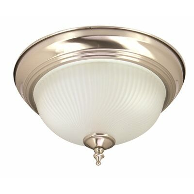 Decorative 1-Light Flush Mount