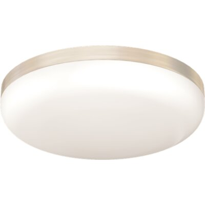 Brushed Nickel 3-Light Flush Mount