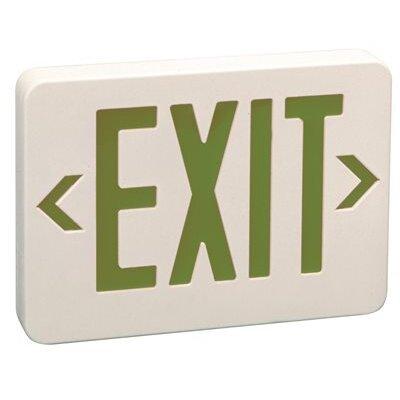 Light Green LED Exit Sign Light