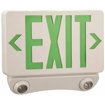 Combination Green LED Light Exit Sign