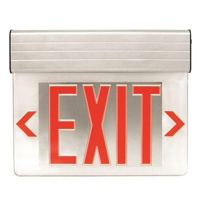 Edge-Lit Double Face LED Exit Sign Light