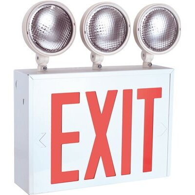 AC/DC 3-Light Emergency Exit Light