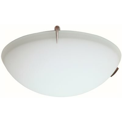 Fluorescent 2-Light Flush Mount