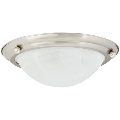 75-Watt 2-Light Flush Mount