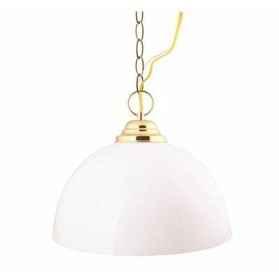 Acrylic Dome 1-Light Bowl Pendant