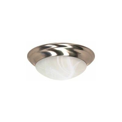 Twist and Lock 3-Light Flush Mount Finish: Brushed Nickel