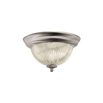 1 Light Flush Mount Finish: Brushed Nickel 2487025