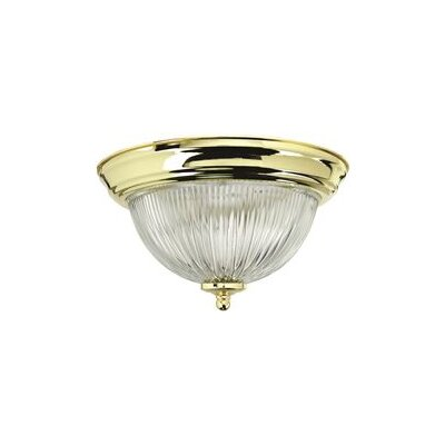 3 Light Flush Mount Finish: Polished Brass 2487030