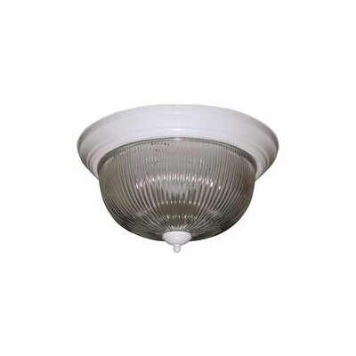 1 Light Flush Mount Finish: White 2487026