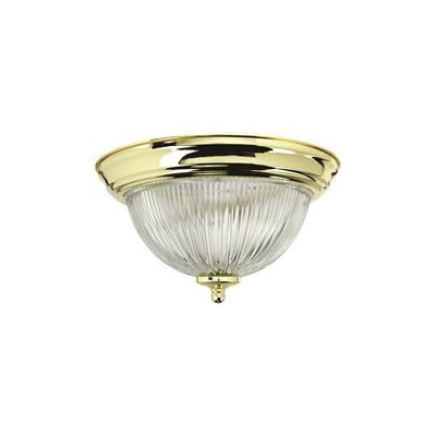 1 Light Flush Mount Finish: Polished Brass 2487024