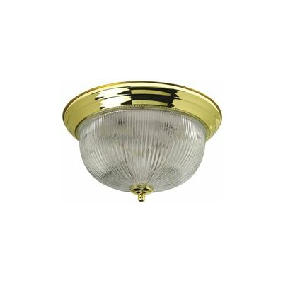 2 Light Flush Mount Finish: Polished Brass 2487029