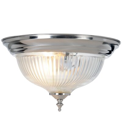 Halophane 1-Light Flush Mount Size: 10.87
