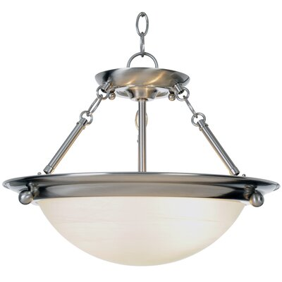 Lunar Bay 2-Light Inverted Pendant Size: 15.5