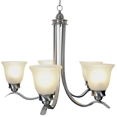 Sanibel 5-Light Shaded Chandelier Finish: Brushed Nickel, Bulb Type: 60W Medium Base