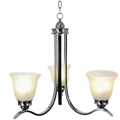 Sanibel 3-Light Shaded Chandelier Finish: Brushed Nickel, Bulb Type: 13W Compact Fluorescent