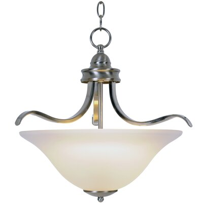 Sanibel 1-Light Bowl Pendant Size: 22 H x 21 W x 21 D, Finish: Brushed Nickel