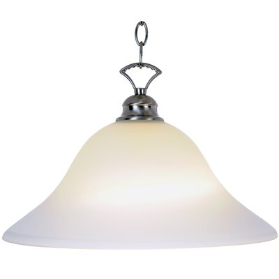 Wellington Lighting 1-Light Inverted Pendant Finish: Brushed Nickel, Bulb Type: 100W Medium Base