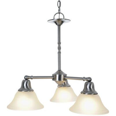 Sonoma 3-Light Shaded Chandelier Finish: Brushed Nickel, Bulb Type: 60W Medium Base