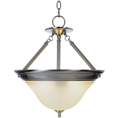 Sonoma Lighting 1-Light Bowl Pendant Finish: Brushed Nickel, Bulb Type: 55W Compact Fluorescent