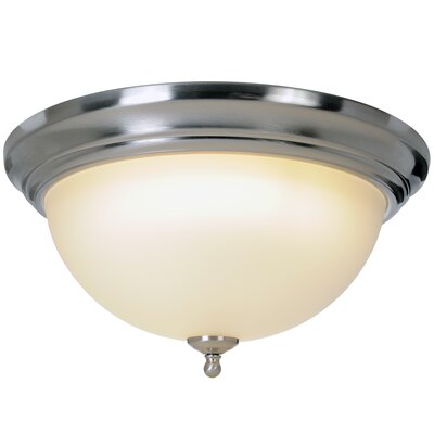 Sonoma 1-Light Flush Mount Size: 7.25 H x 15.5 W x 15.5 D, Fixture Finish: Brushed Nickel, Bulb Type: 60W Medium Base