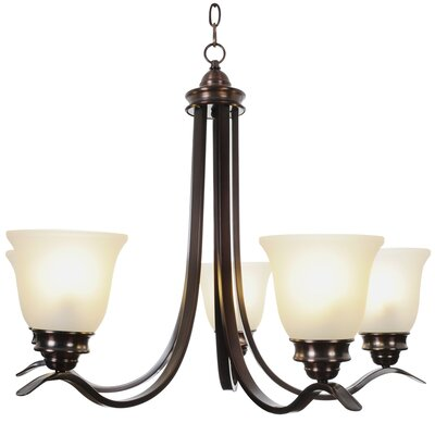 Sanibel 5-Light Shaded Chandelier Finish: Oil Rubbed Bronze, Bulb Type: 60W Medium Base
