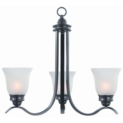 Sanibel 3-Light Shaded Chandelier Finish: Oil Rubbed Bronze, Bulb Type: 13W Compact Fluorescent