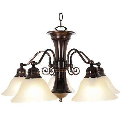Wellington 5-Light Shaded Chandelier Finish: Oil Rubbed Bronze, Bulb Type: 60W Medium Base
