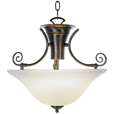 Wellington Lighting 1-Light Bowl Pendant Finish: Oil Rubbed Bronze, Bulb Type: 60W Medium Base