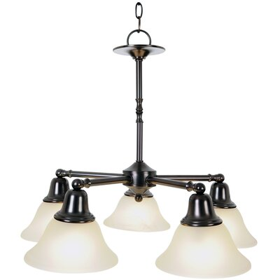 Sonoma Lighting 5-Light Shaded Chandelier Finish: Oil Rubbed Bronze, Bulb Type: 13W Compact Fluorescent