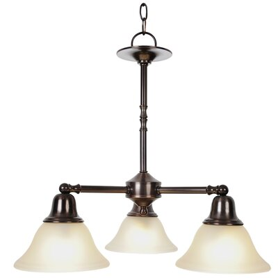 Sonoma 3-Light Shaded Chandelier Finish: Oil Rubbed Bronze, Bulb Type: 60W Medium Base