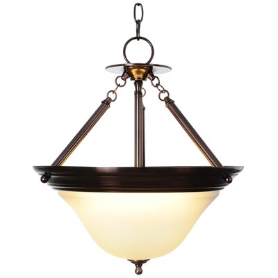 Sonoma Lighting 1-Light Bowl Pendant Finish: Oil Rubbed Bronze, Bulb Type: 55W Compact Fluorescent