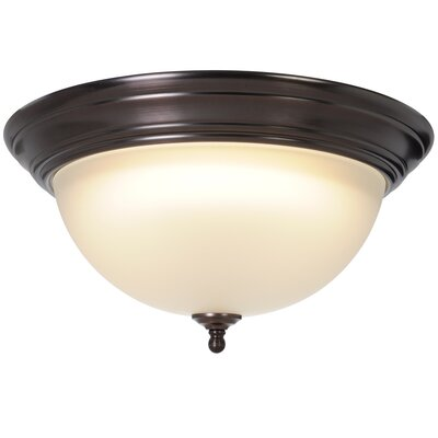 Sonoma 1-Light Flush Mount Size: 7.25 H x 15.5 W x 15.5 D, Fixture Finish: Oil Rubbed Bronze, Bulb Type: 30W Compact Fluorescent