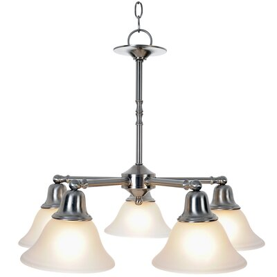 Sonoma Lighting 5-Light Shaded Chandelier Finish: Brushed Nickel, Bulb Type: 100W Medium Base