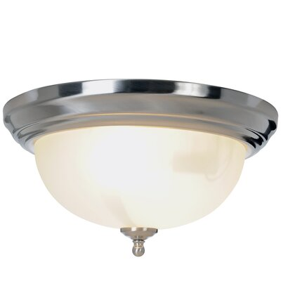 Sonoma 1-Light Flush Mount Size: 6.26 H x 13.25 W x 13.26 D, Fixture Finish: Brushed Nickel, Bulb Type: 60W Medium Base