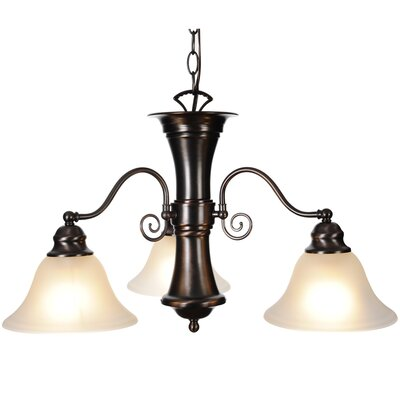 Wellington 3-Light Shaded Chandelier Finish: Oil Rubbed Bronze, Bulb Type: 60W Medium Base