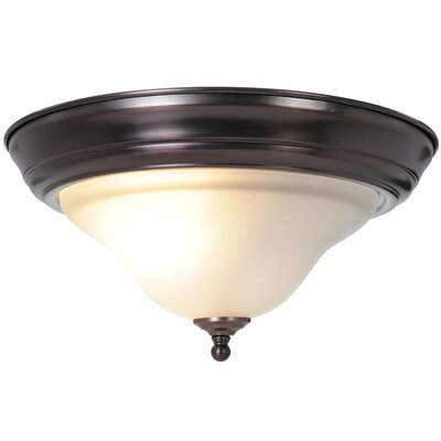 Wellington 1-Light Flush Mount Fixture Finish: Oil Rubbed Bronze, Bulb Type: 60W Medium Base