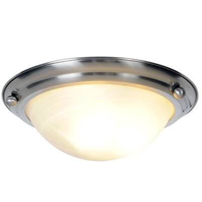 Lunar Bay 2-Light Flush Mount Bulb Type: 13W Energy Efficient Fluorescent