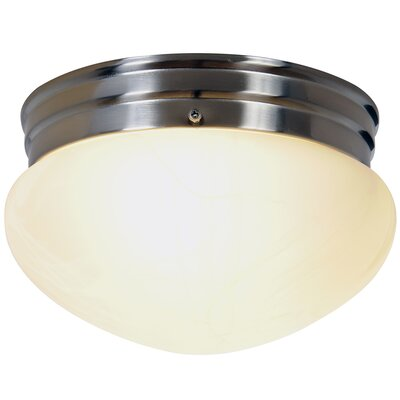 Contemporary 2-Light Flush Mount