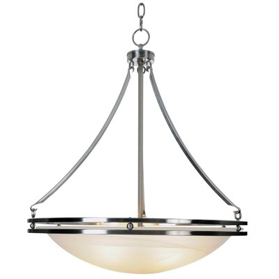 Contemporary 5-Light Chandelier Bulb Type: 100W Medium Base