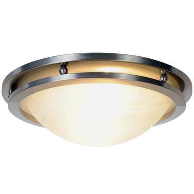 Contemporary 2-Light Flush Mount Size: 14