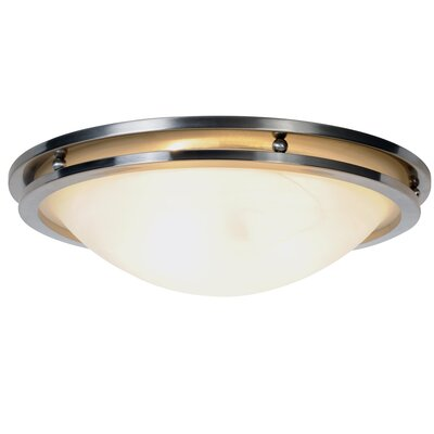 Contemporary 2-Light Flush Mount Size: 17.68