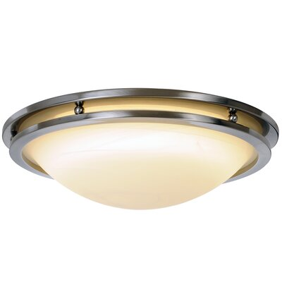 Contemporary 1-Light Flush Mount Size: 17.68