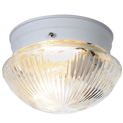Monument 1-Light Flush Mount Finish: White