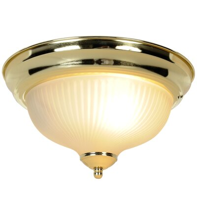 Monument 1-Light Flush Mount Finish: Polished Brass