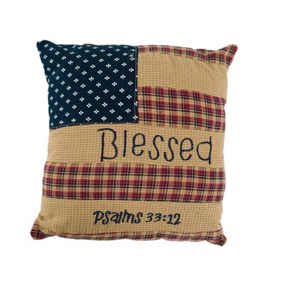 Patriotic Patch Blessed Cotton Throw Pillow